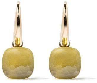 Pomellato 18kt rose & white gold Nudo lemon quartz earrings