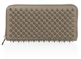 Christian Louboutin  Christian Louboutin Panettone Spiked Leather Zip-Around Wallet