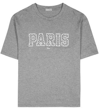 Christian Dior Grey Logo-print Cotton T