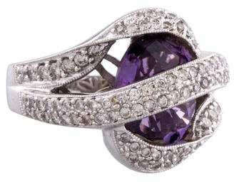 Diamond Wrapped Amethyst Ring