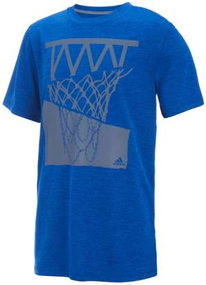 adidas Boys 8-20 Hacked Hoop Basketball Graphic Tee