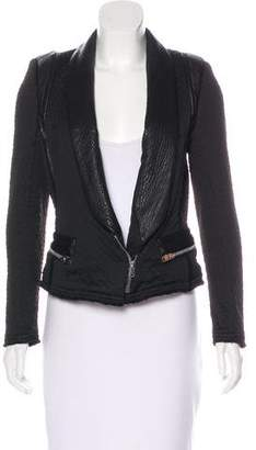 IRO Textured Leather-Accented Jacket