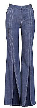 Chloé Women's Soft Denim Front Slit Flare Jeans