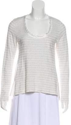 Sacai Luck Scoop Neck Paneled Blouse