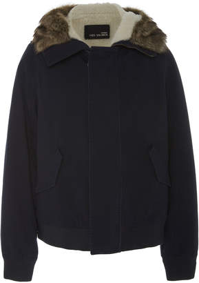 Yves Salomon Paris Shearling-Lined Cotton Jacket