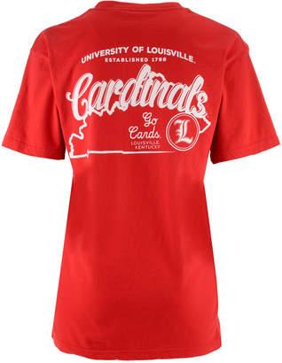 Pressbox Women's Louisville Cardinals Elly May Big V-Neck T-Shirt