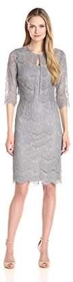 Alex Evenings Women's Tea Length Dress and Jacket