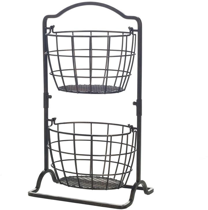 Gourmet Basics Harbor 2-Tier Hanging Basket