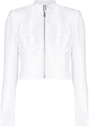 zipped cropped jacket