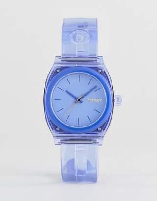 Nixon A1215 Medium Time Teller Silicone Watch In Blue