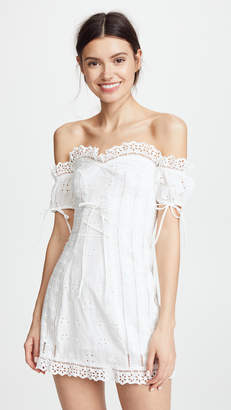 For Love & Lemons Anabella Eyelet Lace Up Dress