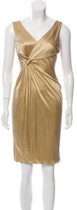 Versace Draped Sleeveless Dress w/ Tags