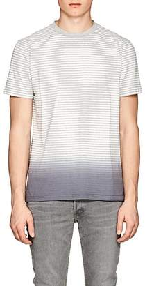 Barneys New York Men's Striped Ombré Cotton-Blend T-Shirt - White