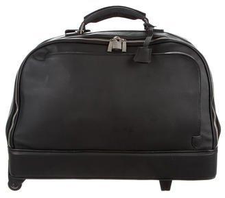 Ermenegildo Zegna Grained Leather Carry-On Suitcase