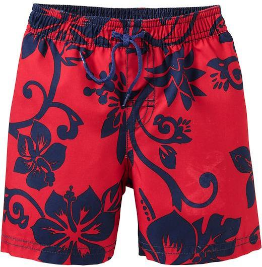 Old Navy Hibiscus-Print Swim Trunks for Baby