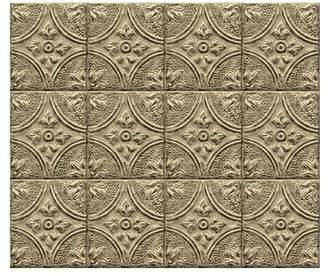 Brewster Home Fashions Brass Tin Tile Peel and Stick Backsplash