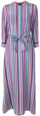 Aspesi striped long belted dress