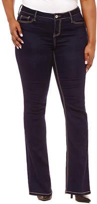 Hydraulic Curvy Fit Bootcut Jeans-Juniors Plus