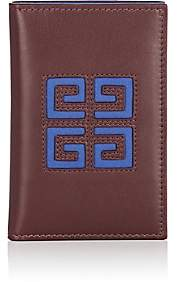 Givenchy Men's Leather Folding Card Case-Brown