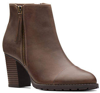 Clarks Leather Ankle Booties