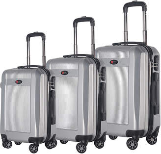 Brio Luggage Hardside Spinner Luggage (Set of 3)