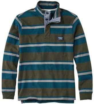 L.L. Bean L.L.Bean Men's LakewashedA Rugby Pullover, Traditional Fit, Long-Sleeve Stripe