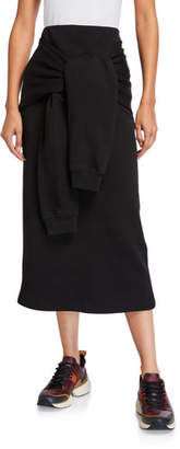 McQ Knotted Sleeve Midi Skirt