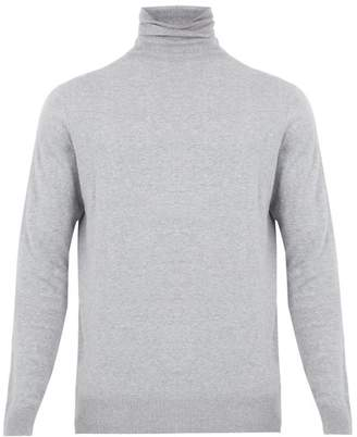 Raey Roll Neck Cotton Knit Sweater - Mens - Grey