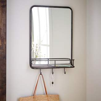 west elm Entryway Mirror + Hooks