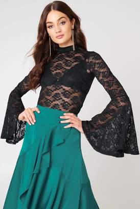 NA-KD Na Kd Bell Sleeve Lace Top