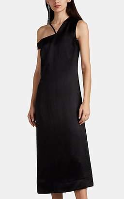 Nomia Women's Satin Asymmetric Shift Dress - Black