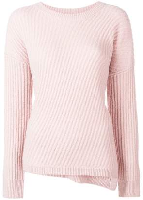 Vince bias rib knit sweater
