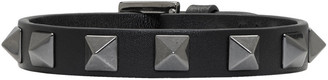 Valentino Black Rockstud Bracelet $195 thestylecure.com