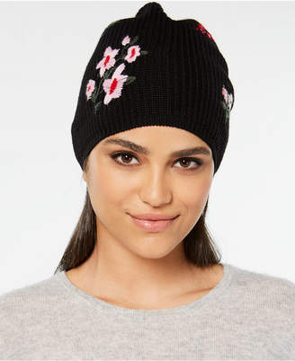 Kate Spade In Bloom Wool Embroidered Beanie