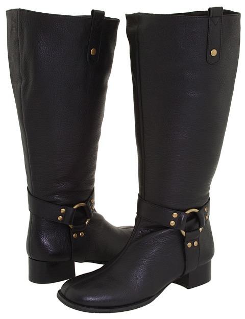Fitzwell Bit/Extra Wide Calf Boot (Black Brazilian Calf) - Footwear