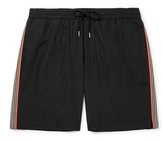 Burberry Mid-Length Striped Shell Swim Shorts