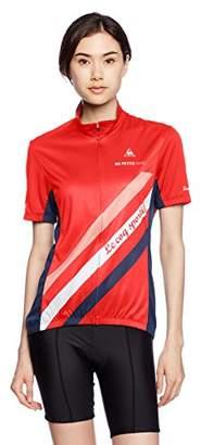 Le Coq Sportif (ル コック スポルティフ) - (ルコックスポルティフ) le coq sportif サイクリング ピンメッシュジャージL QC-746173 [レディース] RED S