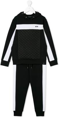 Daniele Alessandrini Kids quilted front panel tracksuit