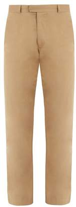 Raey - Flat Front Skinny Cotton Chino Trousers - Mens - Tan
