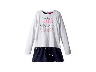 Joules Kids Layered Sweater Dress (Toddler/Little Kids/Big Kids)