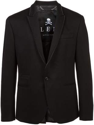 Philipp Plein studded collar blazer