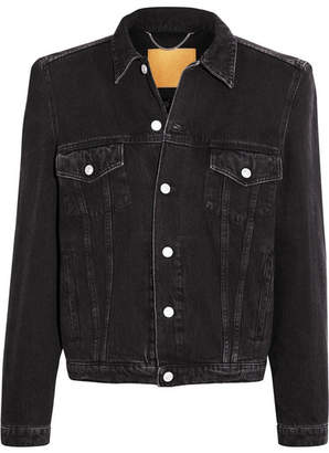 Balenciaga - Denim Jacket - Black $1,395 thestylecure.com