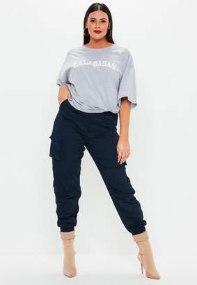 Missguided Plus Size Navy Combat Pants