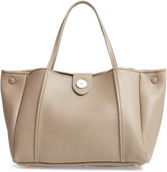 Maison Margiela Number Embossed Leather Button Tote