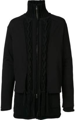 Yohji Yamamoto layered zip cardigan