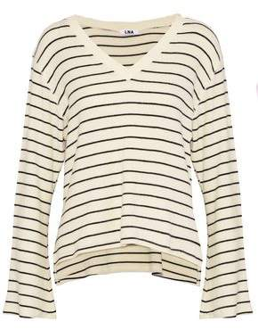 LnA Brushed Lilia Striped Stretch-Tencel Sweater