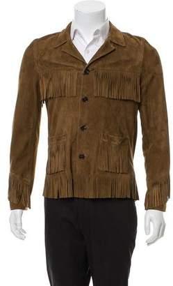 Saint Laurent Fringe Suede Jacket w/ Tags