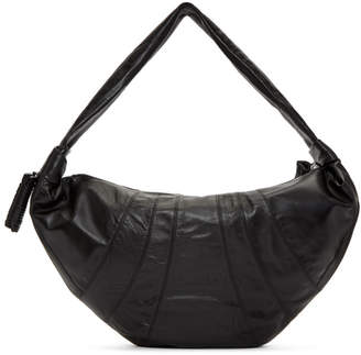 Lemaire Black Leather Large Bum Bag