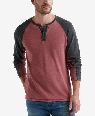 Lucky Brand Mens Thermal Raglan Shirt
