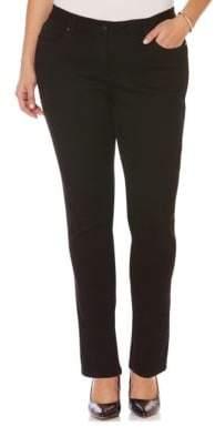 Rafaella Plus Five-Pocket Style Denim Pants